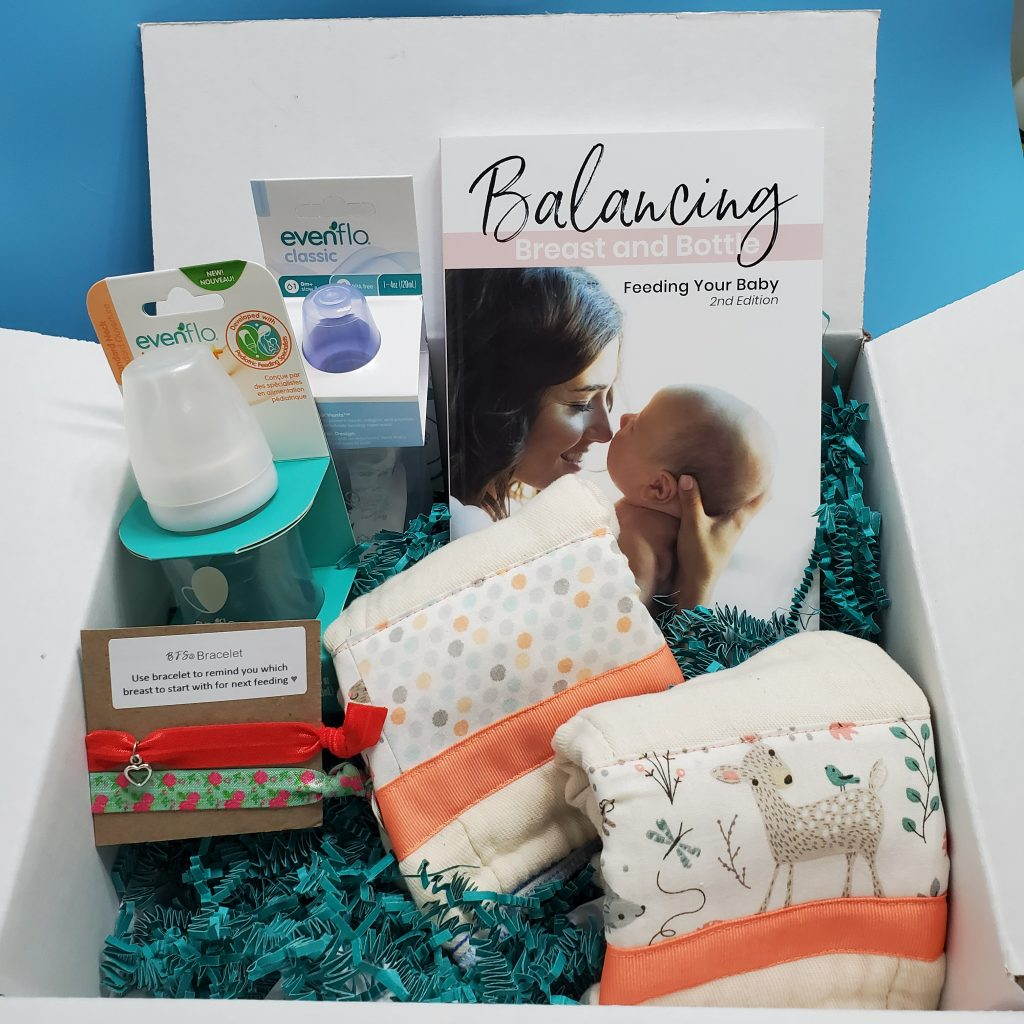 Gift Box with Balancing Breast and Bottle Book